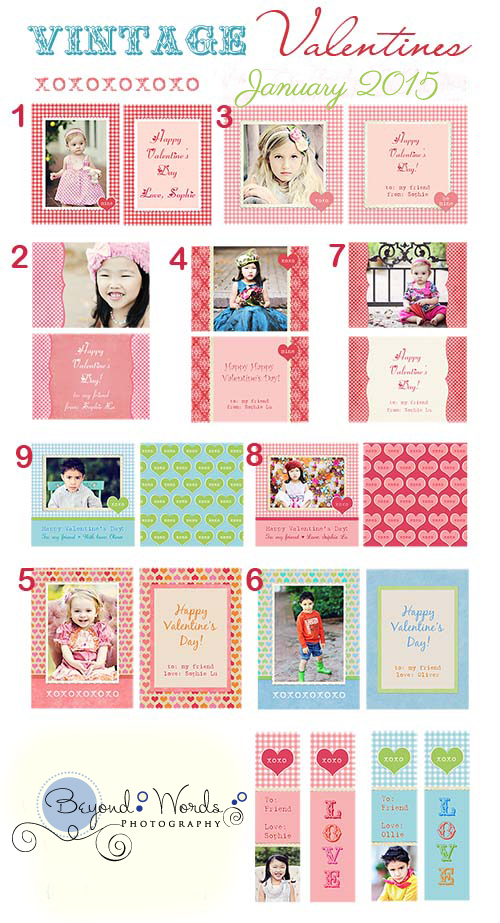 Valentines Numbered Examples